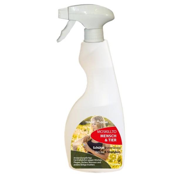 Terra Domi Moskillto 500ml Mückenspray für die Haut I Insektenspray mit Sofort- & Langzeitwirkung