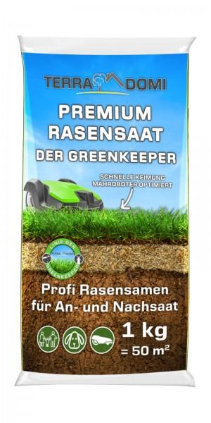 Premium Rasensamen für An- & Nachsaat I strapazierfähige und robuste Rasensaat der Greenkeeper