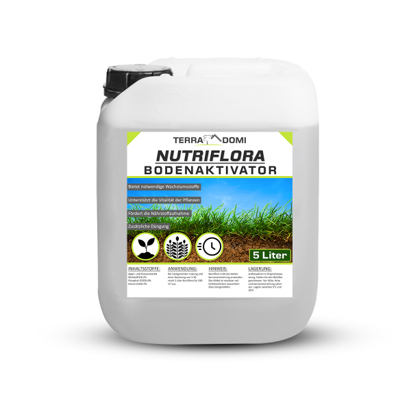 Nutriflora 5 Liter Bodenaktivator, Flüssigdünger für 20% mehr Wachstum und Ertrag