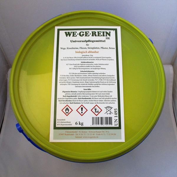 We.ge.rein 6kg Universalpflegemittel für Wege, Kieselsteine, Fliesen, Steinplatten, Beton