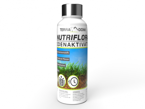 Nutriflora 500ml Bodenaktivator, Flüssigdünger für 20% mehr Wachstum und Ertrag