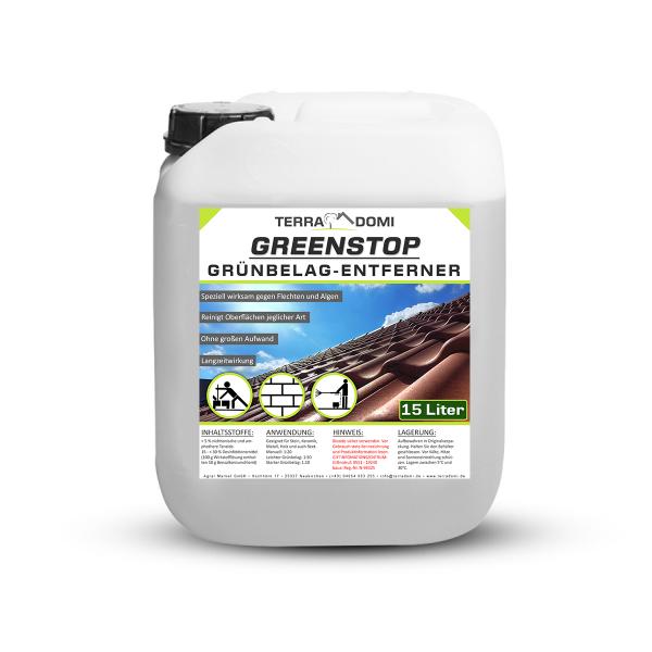 Greenstop - Reiniger für Oberflächen im Außenbereich - 15 Liter